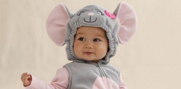 ребенок в костюме мышки