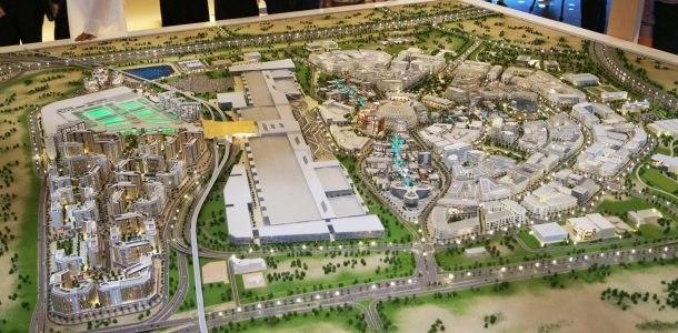 макет нового района экспо