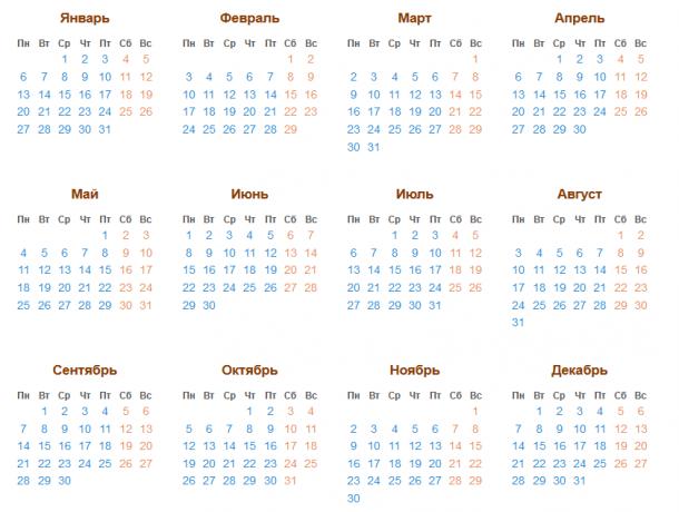 високосный год 2020 календарь