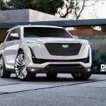 белый Cadillac Escalade 2020